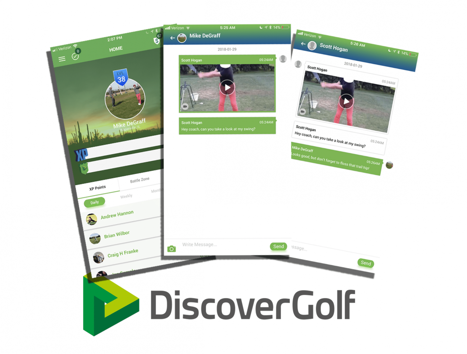 DiscoverGolf logo and product screenshots